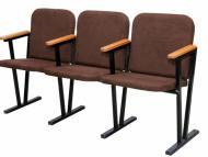 Крісло для актового залу м'ягке (3 місне) 1550х530х830 мм (тканина)